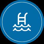 Lake and swimming pool